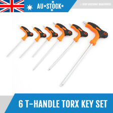 6pcs T-Handle Torx Key Set Star Key Screwdriver Set Size T10 T15 T20 T25 T27 T50