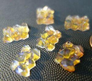11   Vintage Czech Art DECO   FACETED   Glass   Jewelry pieces  CABOCHONS
