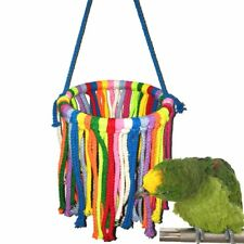 New listing Pet Bird Parrot Play Toy Cotton Rope Bite-resistant Hanging Swing Stand Ring Toy