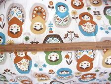 Kokka Russian Dolls Matryoshkas Trefle FQ  100% Printed Cotton 50 x 55cms