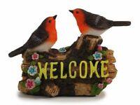 Willkommen Schild Bewegungsmelder Vögel Figur Deko Eingang Dekofigur Welcome
