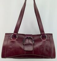 PRUNE Maroon Leather Handbag