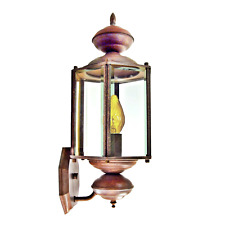 "Exterior Porch Light 16"" Outdoor Brass Wall Lantern Fired Clay Finish _213-05"