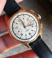 montre ancienne mécanique GIM Chronographe Valjoux 23. Old Watch fonctionne