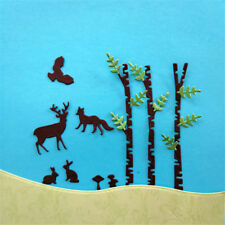 Forest Tree Pole Design Metal Cutting Dies For DIY Scrapbooking Album Card GD