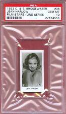 1933 C T BRIDGEWATER Film Card 38 JEAN HARLOW Actress RED DIRT Sex Symbol PSA 10