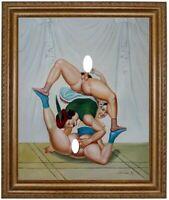 Ölbild Liebesakt, nackte Frau, Peter Fendi, Ölgemälde Nude HANDGEMALT 50x60cm