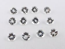 11.90 Cts 12 Pcs Natural Crystal Lot Round Cut Lot Loose Gemstone Size 6 MM B549