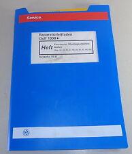 Taller de libro de mano vw golf iv/4 a partir de 1998 la carrocería operaciones de montaje exterior de 1997