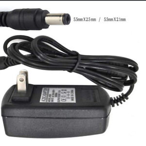 118V 2A--2.5A Compatible AC DC Adapter Power Cord Charger  Barrel Round Plug Tip