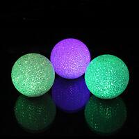 Hot 7 Colors Changing LED Crystal Ball Night Light Magic Wedding Decor Lamp Room
