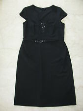 LUISA CERANO Elegante Stretch Etui Kleid Businesskleid Dress Gr.42 Neuwertig