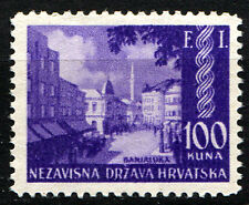 CROATIA NDH 1942 Philatelic Exhibition in Banja Luka /''F I'' Mi 81 MH no gum