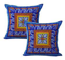 Us Seller-2pcs talavera Mexican Spanish cushion cover decorative pillow covers