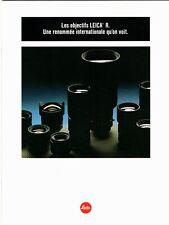 Les OBJECTIFS LEICA R _ Toutes les optiques Leica R disponibles en 1986