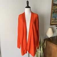 NWOT Eileen Fisher Orange Open Front Cardigan Alpaca Blend Small S