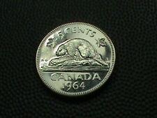 CANADA    5  Cents   1964     PROOF   ,   BEAVER    ,   NO  YELLOW  TONE