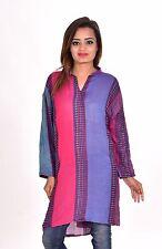 Indian Women Girl Rayon Pashmina Top Tunic Plus Size stripes print XL 3XL 4XL