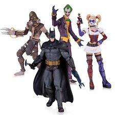 ARKHAM ASYLUM JOKER HARLEY QUINN BATMAN SCARECROW ACTION FIGURE 4 PACK DC COMICS