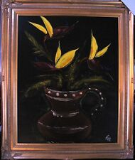 Australia's Gypsy Nick Petali original painting titled 'Heliconias'