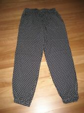 LADIES CUTE BLACK & WHITE PATTERN VISCOSE CASUAL HAREM PANTS BY MILLERS SIZE 10
