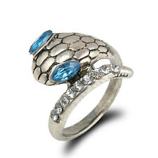 Top Quality Snake Ring Tribal Ethnic Turquoise Ring Hippie Gothic Antique Silver