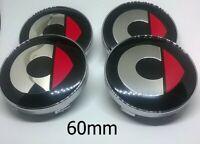 *NEW* 4x 60mm SMART Red Wheel Center Caps Logo Hub Caps Rim