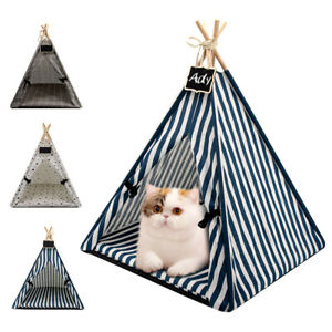Summer Breathable Pet Cat Dog Tent Sleeping House with Soft Mat Dog Portable Bed