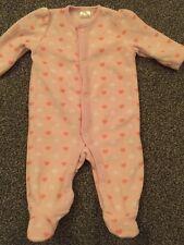 Baby Girls Fleece Sleepsuit - Up to 1 Month