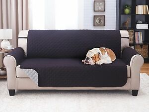 """SLIPCOVER REVERSIBLE SOFA PET FURNITURE COUCH PROTECTOR COVER, 1800 COUNT 75"""" x"""