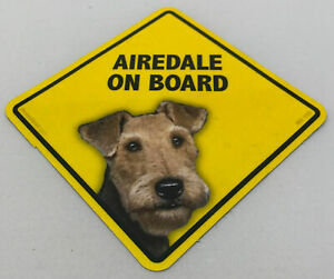 Airedale On Board Magnet Laminated Car Pet Magnet NEW 6x6