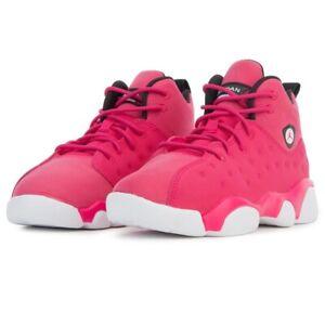 Jordan Jumpman Team II PS Rush Pink Black Youth Basketball Shoes AQ2796 600