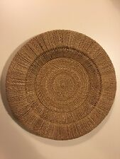 Woven Round Wicker Charger Plates, Camel Color (Pottery Barn)