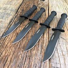 Lot de 4 Couteau de Cou Tactical Mini Kabai MTECH Acier 440 Façon Ka-Bar MT632CB