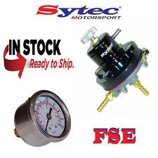 FSE SYTEC Ajustable Regulador De Presión De Combustible & calibre 1.5 - 6 Bar MSV001BLK Negro