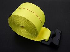 "(10) 4"" x 30' Flat Hook Winch Straps Flatbed Truck Trailer Tie Down Strap YELLOW"