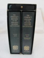 COMPACT EDITION of the OXFORD ENGLISH DICTIONARY 2 Vols 1973 w/ Magnifying Glass