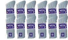 3-12 Pairs Gray Diabetic Crew Socks Health Mens Circulatory Calf Cotton 10-13