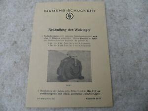 original Siemens Schuckert Behandlung der Wälzlager Elektromotor
