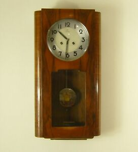 Vintage Junghans Art Deco Chiming Wall Clock