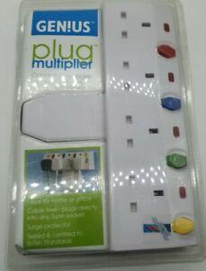 5 Way Plug Adapter Mains Socket Adapters UK Plugs Multi Switch Adapting Sockets