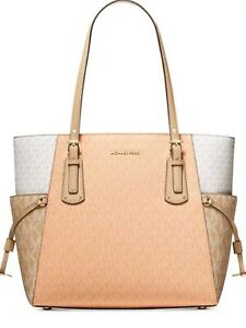 Michael Kors Vouager East West Tote Bag Cantelope Multi NWT