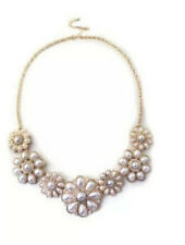 NEW Style Women Fashion Noble Pearl Flower Jewerly Bib Necklace