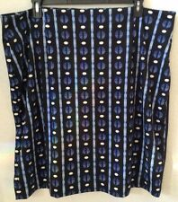 Women's Black/Blue Knit Skirt 24W CATO Stretch Poly/Spandex Below Knee New w/Tag