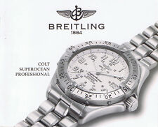 BREITLING COLT SUPEROCEAN PROFESSIONAL ANLEITUNG INSTRUCTIONS I433