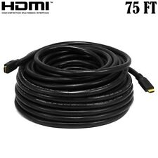 75ft HDMI Cable HDTV Cord Long Run In-Wall CL2 22AWG Gold Plated w/ Ethernet