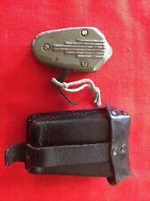 WW2 British Airborne Philips crankshaft flashlight in a German cartridge belt
