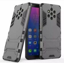 Nokia 9 PureView Case Hybrid Armor Drop Protection Hard Cover Kickstand Gray