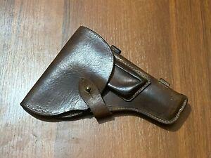 VINTAGE RUSSIAN OFFICER PISTOL HOLDER Brown Leather Gun Holder USSR