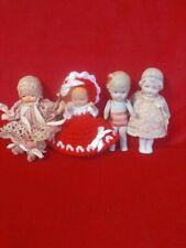 "Lot of 4 4"" Bisque Dolls- Japan"